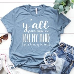 Make Me Lose My Mind Graphic TShirt NEW NWT Blue